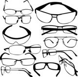 sunglasses collection - vector
