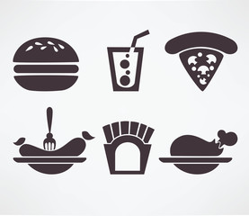 fastfood images in info-graphic style, vector collection