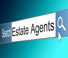 Estate Agent concept.
