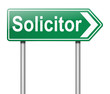 Solicitor concept.