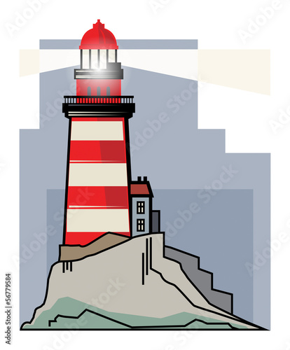 Lighthouse, vector illustration