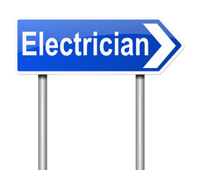 Electrician concept.