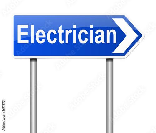 Electrician concept.