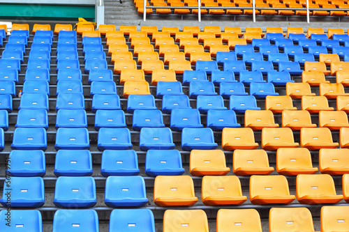 Seat grandstand in an empty stadium.