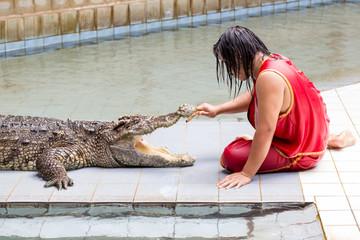 "THAILAND, Kanjanaburi - SEPTEMBER 29: An unidentified zoo  of ""S"