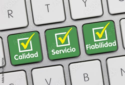 Teclado calidad, servicio y fiabilidad