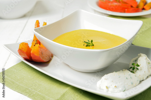 Creamed pumpkin soup