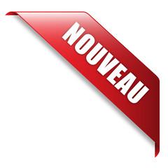 Ruban Publicitaire NOUVEAU (tampon bannière nouveauté publicité)