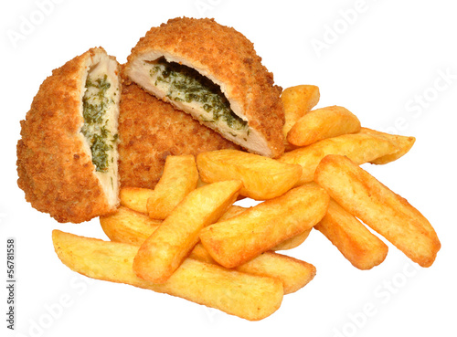 Chicken Kiev And Chips