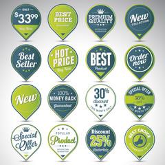 Set of business vintage badges