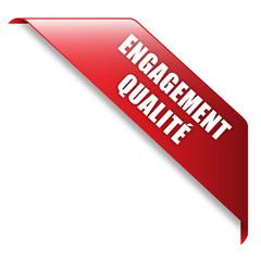Ruban Publicitaire ENGAGEMENT QUALITE (service garantie)