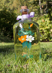 A handpainted bottle