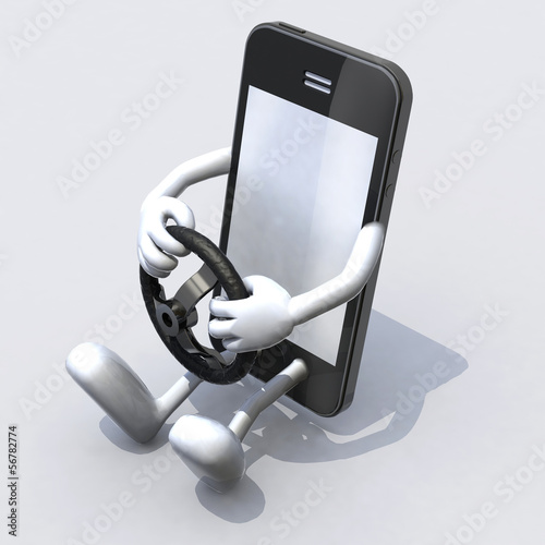 mobile phone with arms and legs driver