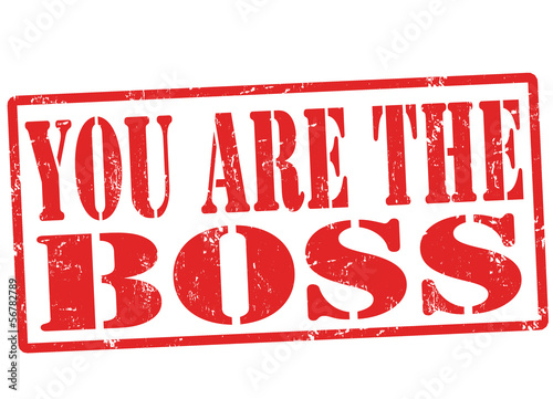 You are the boss stamp