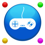 Game joystick icon button