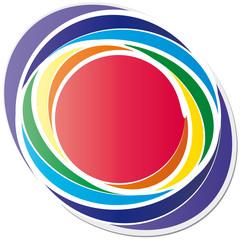 Chakrafarben - Logo ovale Form