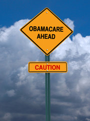 obamacare ahead caution conceptual post