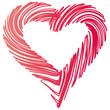 Rotes Herz - gemalt