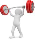 Fototapety Männchen Gewichtheber