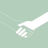 popular handshake connecting teamwork icon concept isolated vect