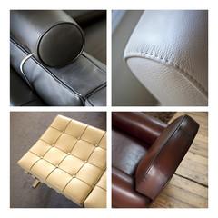 Fauteuil, cuir, canapé, peau, meuble, mobilier, salon