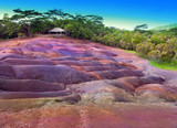 famous tourist place of Mauritius.earth of seven colors