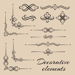 Vector set of decorative design elements