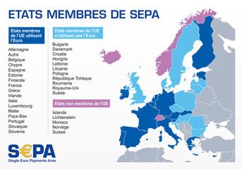s€pa - carte des états membres sepa