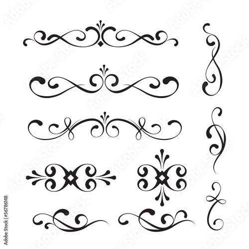 Decorative elements and ornaments