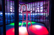 Place for dancer with chair in the nightclub