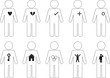 Set of active human pictogram icons illustrated