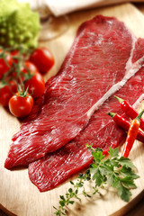 raw beef meat fillets