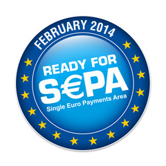 s€pa, ready for sepa, logo button