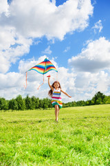 Girl with kite