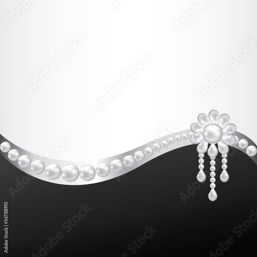 pearl brooch decoration - 56788910