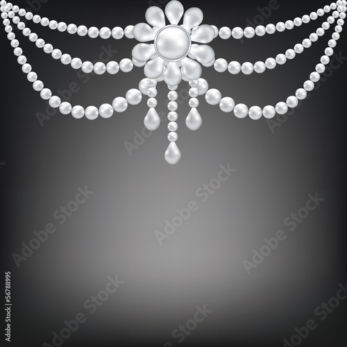 pearl brooch decoration