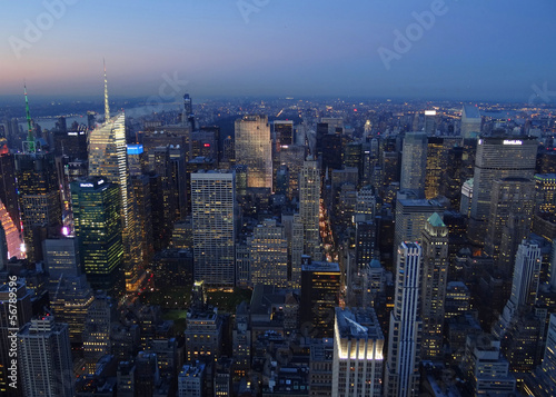 New York depuis l'Empire State Building, nocturne