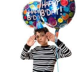 Facial Expression During his Birthday