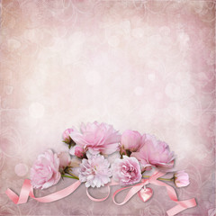 Vintage elegance background with  roses
