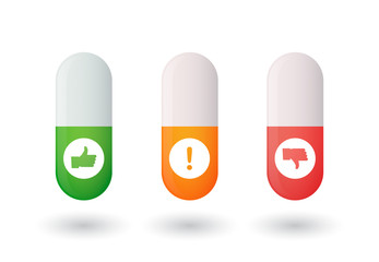 Pills with icons