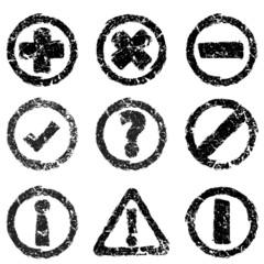 Set of grunge web icons
