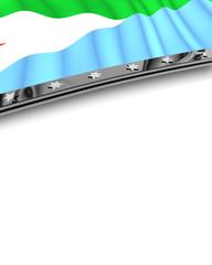 Designelement Flagge Dschibuti