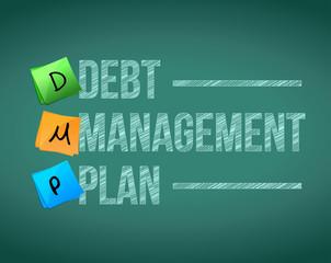 debt management plan post illustration