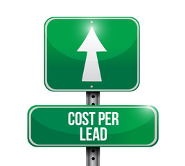 cost per lead road sign illustration design