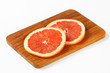 Slices of fresh red grapefruit