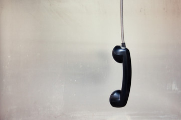 hanging phone receiver
