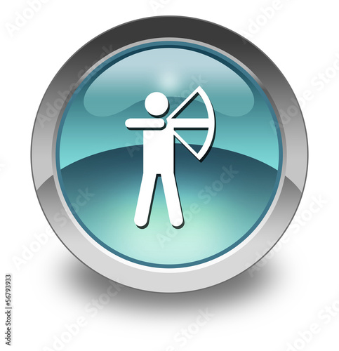 "Light Blue Glossy Pictogram ""Archery"""