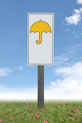 The Label indicates of Umbrella.