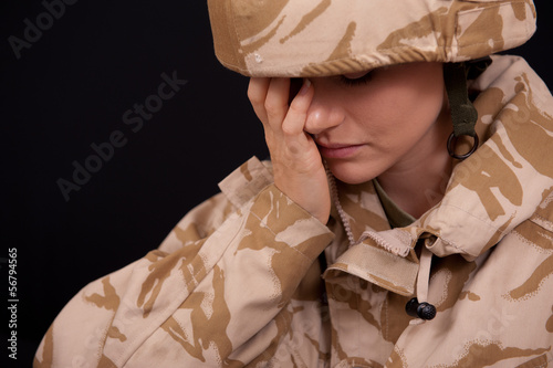 Upset Female Soldier