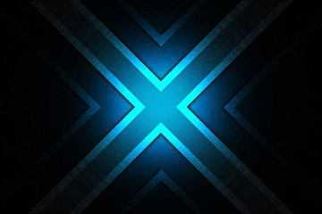 The blue x background